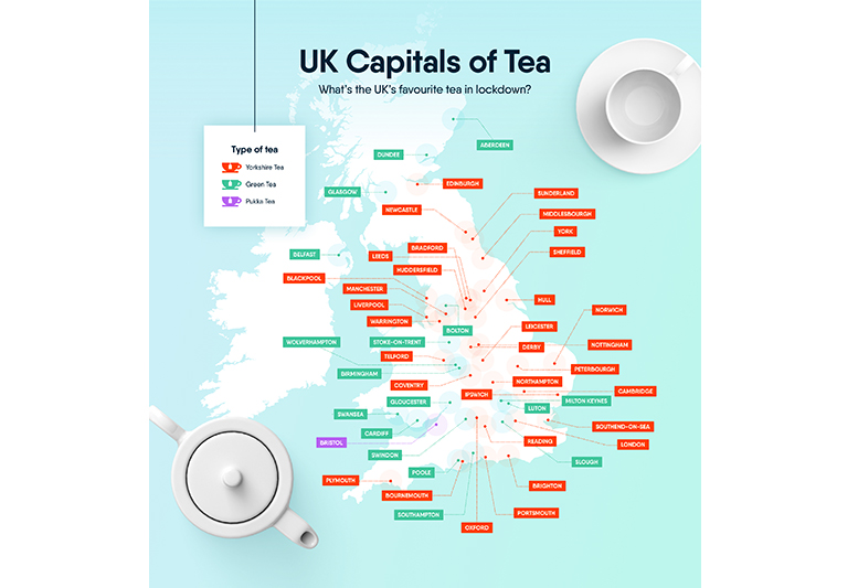 Online tea searches rise in the UK during the lockdown